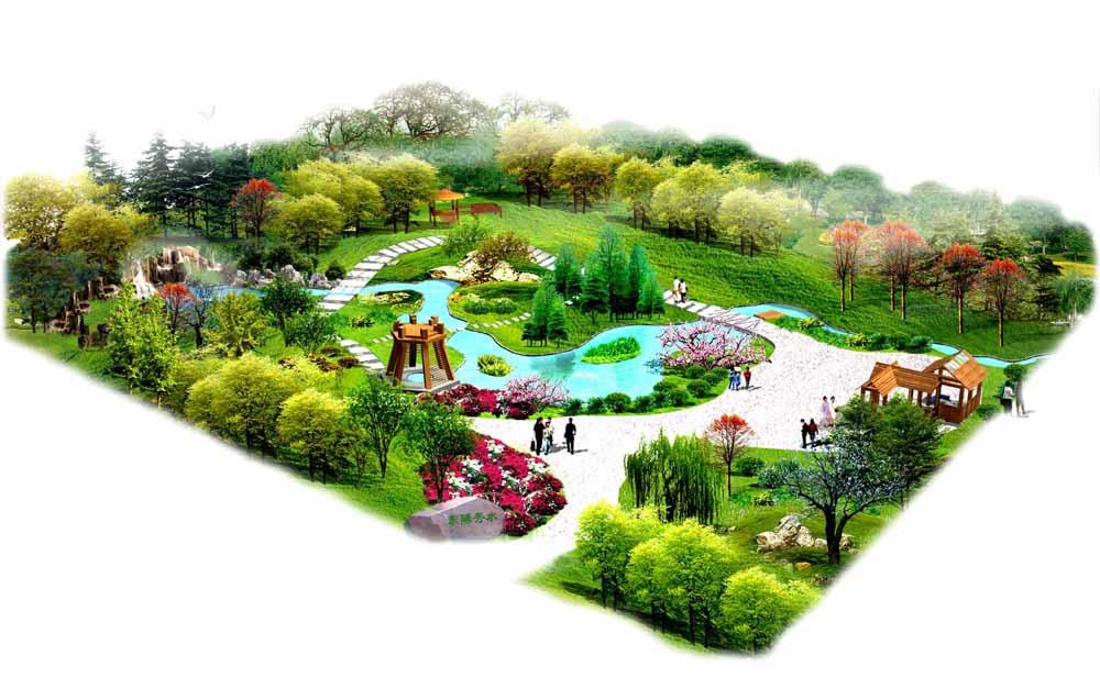城市小游园是居民的重要室外生活空间,是城市园林绿化系统中分布最广,使用率最高的组成部分,是居住环境中其它成分所不能替代的自然因素。 小游园的设计讲究以人为本,充分考虑人们现在的需要,本设计主要以自然式的小游园为主,给人以回归自然的亲切感,其中考虑人具有亲水性,在其中设置小桥流水的意境,主要体现以小见大的布置格局。周围主要以变色叶乔木围合成半封闭空间,能够使人们在白天的工作繁忙中解脱出来,拥有一个比较安静的环境。